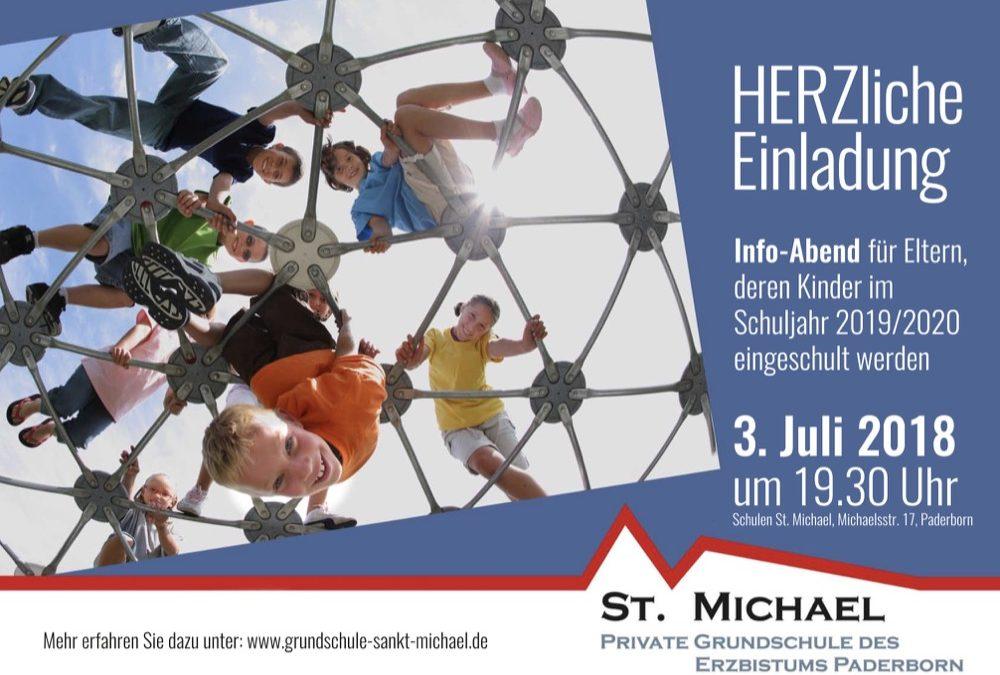 Am 3. Juli 2018 sind interessierte Eltern zu einem Info-Abend über die neue Grundschule St. Michael eingeladen.
