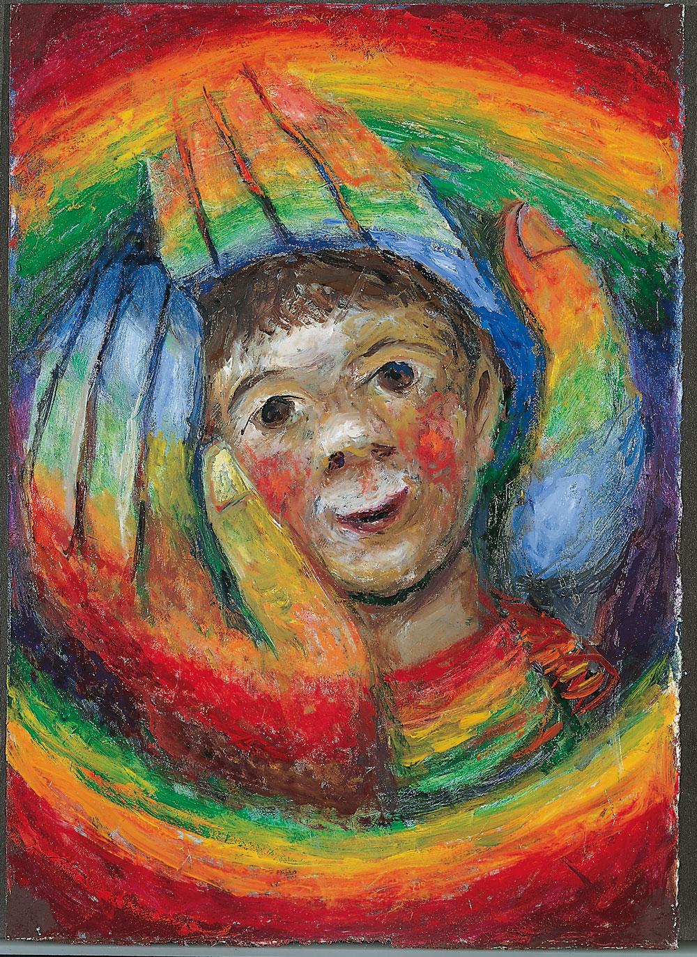 Sieger Köder, In Gottes Händen © Sieger Köder-Stiftung Kunst und Bibel, Ellwangen